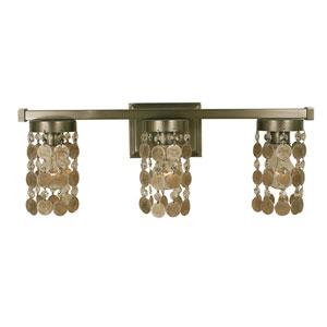 Naomi Brushed Nickel 22-Inch Three-Light Bath Vanity