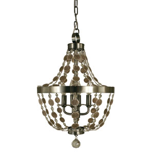 Naomi Brushed Nickel 14-Inch Four-Light Pendant