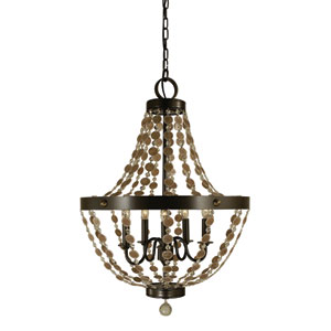 Naomi Mahogany Bronze 21-Inch Five-Light Pendant