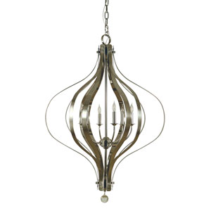 Aries Polished Nickel 32-Inch Six-Light Chandelier