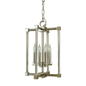 Lexington Polished Nickel 11-Inch Four-Light Chandelier