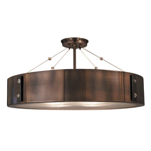 Oracle Roman Bronze with Ebony Accents 23-Inch Four-Light Semi-Flush Mount