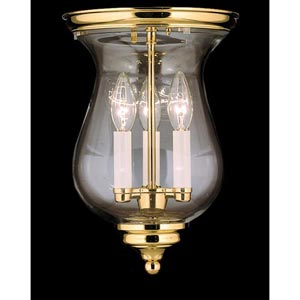 Independence Hall Polished Brass Flush Mount Ceiling Light