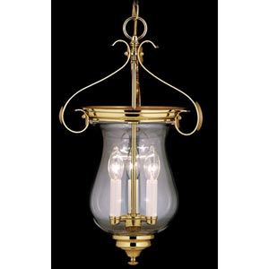 Independence Hall Polished Brass Small Hanging Lantern