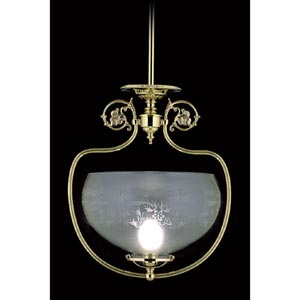 Chancery Polished Brass Pendant