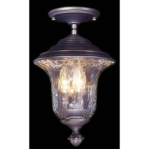 Carcassonne Iron Outdoor Small Semi-Flush Ceiling Lantern
