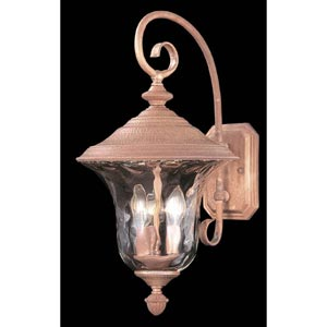 Carcassonne Raw Copper Medium Outdoor Wall-Mounted Lantern