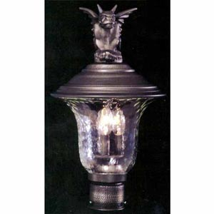 Carcassonne Iron Large Outdoor Post Mounted Lantern