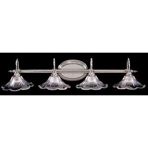 Geneva Polished Silver Four-Light Bath Fixture