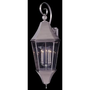 Normandy Brushed Nickel Large Outdoor Wall Mount Lantern