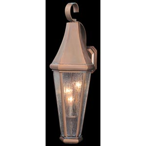 Le Havre Small Raw Copper Outdoor Wall Mounted Lantern