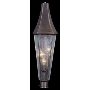 Le Havre Medium Siena Bronze Outdoor Post Mounted Lantern