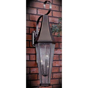 Le Havre Large Siena Bronze Outdoor Wall Mounted Lantern