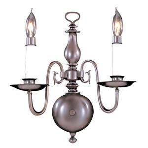 Jamestown Mahogany Bronze Two-Light Wall Sconce