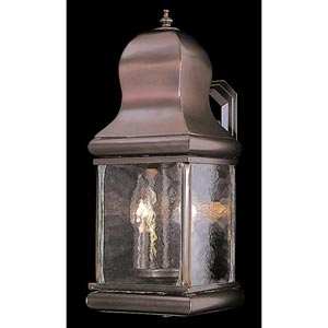 Marquis Mahogany Bronze Small Outdoor Wall-Mounted Lantern