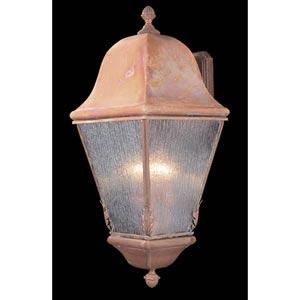 Coeur de Lion Medium Raw Copper Outdoor Wall Mounted Lantern