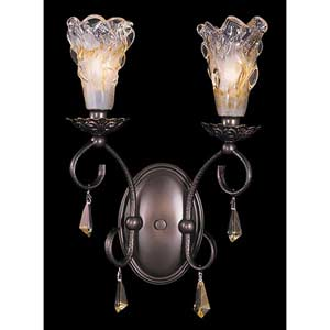 Rhapsody Mahogany Bronze Two-Light Wall Sconce
