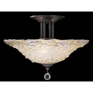 Rhapsody Mahogany Bronze Large Semi-Flush Ceiling Light