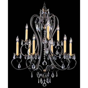 Liebestraum Mahogany Bronze Nine-Light Chandelier