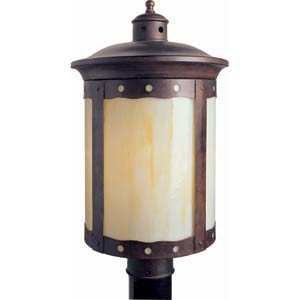 Series 485 Fluorescent Rustic Sienna One-Light Outdoor Post Light