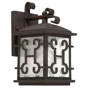 Antique Bronze One-Light 6.25-Inch Wide Outdoor Wall Sconce