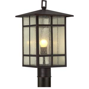 Series 484 Antique Bronze One-Light Outdoor Post Light