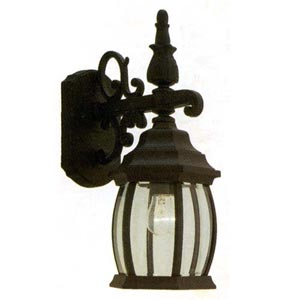 Cast Black Scrolled Small Outdoor Lantern