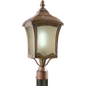 Series 488 Fluorescent Rustic Sienna One-Light Outdoor Post Light