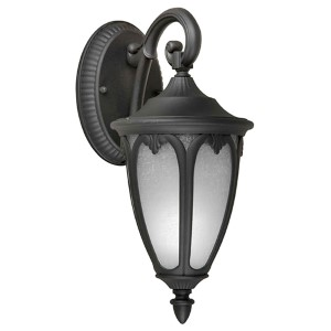 Black One-Light 13.5-Inch High Fluorescent Cast Aluminum Outdoor Wall Sconce