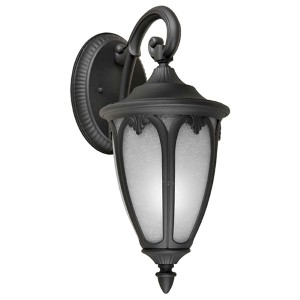 Black One-Light 17.75-Inch High Fluorescent Cast Aluminum Outdoor Wall Sconce
