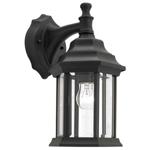 Black One-Light 6.5-Inch Wide Cast Aluminum Outdoor Wall Sconce