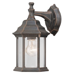 Painted Rust One-Light 6.5-Inch Wide Cast Aluminum Outdoor Wall Sconce