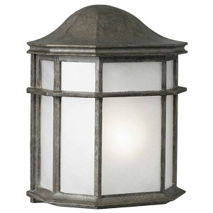 River Rock One-Light Cast Aluminum Outdoor Wall Sconce