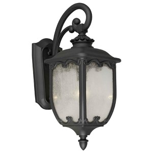 Black One-Light 9.5-Inch Wide Cast Aluminum Outdoor Wall Sconce