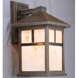 Painted Rust Outdoor Wall Lantern