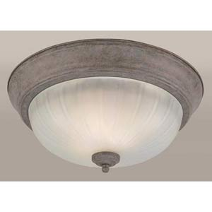 Desert Stone Fluorescent Flush Mount Ceiling Light