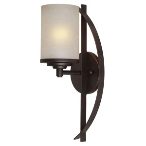 Antique Bronze One-Light 16-Inch High Wall Sconce