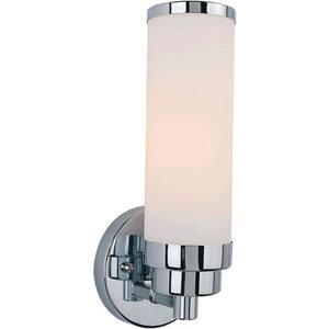 Chrome One-Light Bath Fixture with Satin Opal Glass