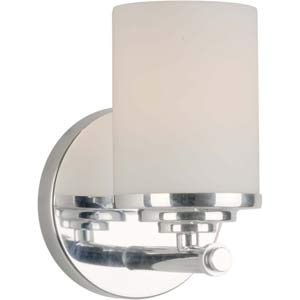 Series 169 Chrome One-Light Bath Fixture