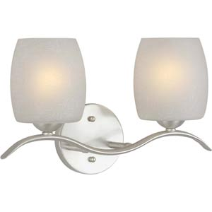 Series 288 Brushed Nickel Two-Light Bath Fixture