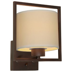 Antique Bronze One-Light 8-Inch Wide Wall Sconce