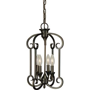 Antique Bronze Four-Light Entry Pendant