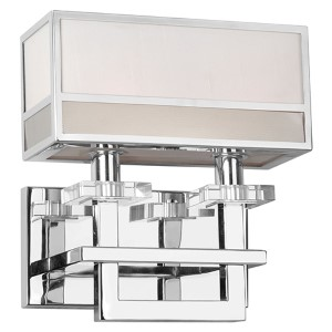 Chrome Two-Light 10.25-Inch Wide Wall Sconce
