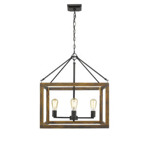 Sutton Black 21-Inch Four-Light Chandelier