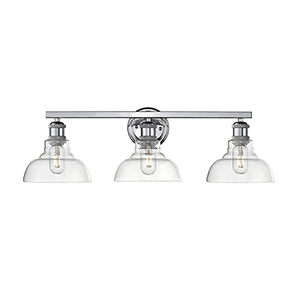 Carver Chrome Three-Light Bath Vanity