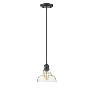 Carver Black Seven-Inch One-Light Mini Pendant