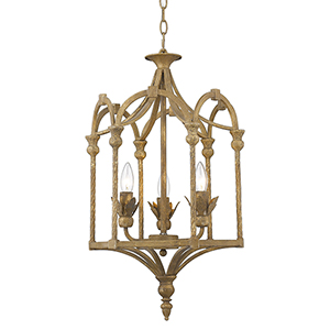 Medici Burnished Chestnut Three-Light Pendant