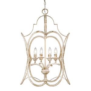 Sabrina Antique Ivory Four-Light Pendant