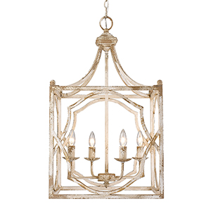 Laurent Antique Ivory Four-Light Pendant