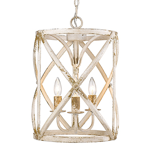 Alcott Antique Ivory Three-Light Pendant